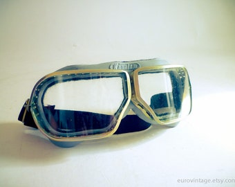 Vintage Goggles Pilot Aviator Motorcycle Goggles Glasses NOS
