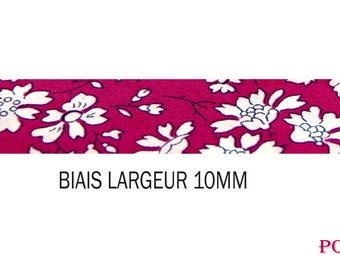 50 cm bias fabric liberty of London Capel fuschia flowers