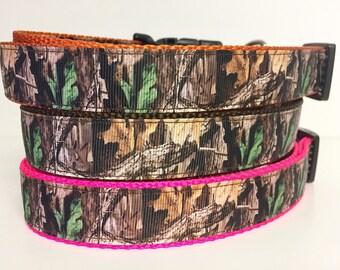 Hunting - Camo-  Mossy Oak - Dog Collar Woods - Bark - Dog Gift - Duck - Pet - Puppy - Tree - Forest - Buck - Doe - Hunter- Camouflage