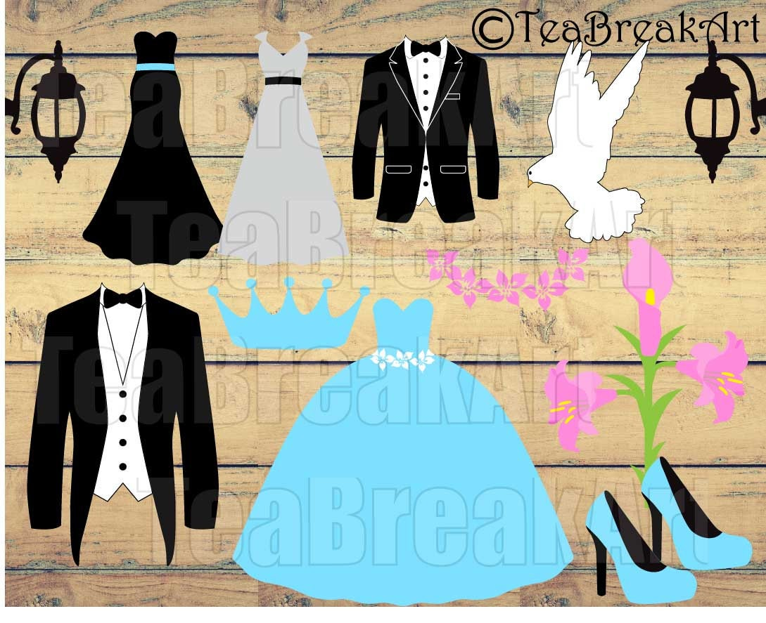 Bride and Groom Cutting Files SVG PNG EPS Instant Download