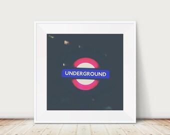 london photograph london underground photograph london print london decor london underground print tube photograph tube print