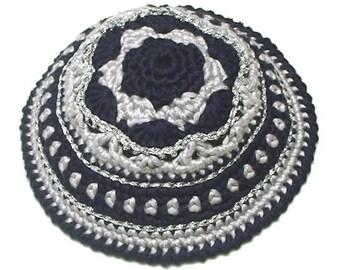 PATTERN for Festive Crochet Kippah (Yarmulke)