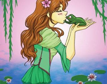 The Frog Prince- Original illustration print
