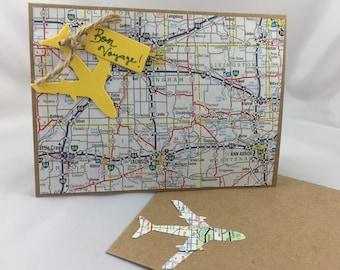 Bon Voyage Handmade Card