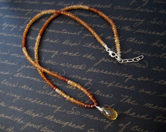 maple -  hessonite and citrine necklace