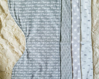 Burp Cloth Set| Gender Neutral Burp Cloth | Baby Shower Gift | Burp Rag | Burp Pads