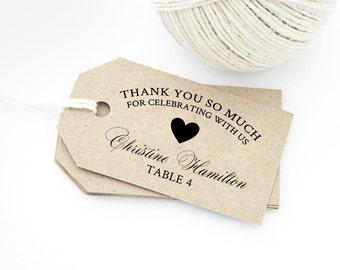 Pdf printables for wedding invitations gift tags by thediystore heart thank you escort card tags diy text editable printable medium size wedding reheart Choice Image