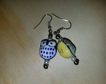 Yellow Owl Earrings