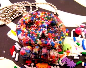 Skull Candy - Resin Sprinkle Necklace