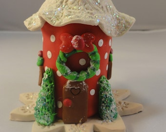 Miniature Polymer Clay Christmas House