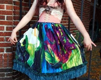 Watercolor Flower Skirt
