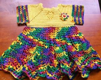 Crochet Baby Dress Handmade
