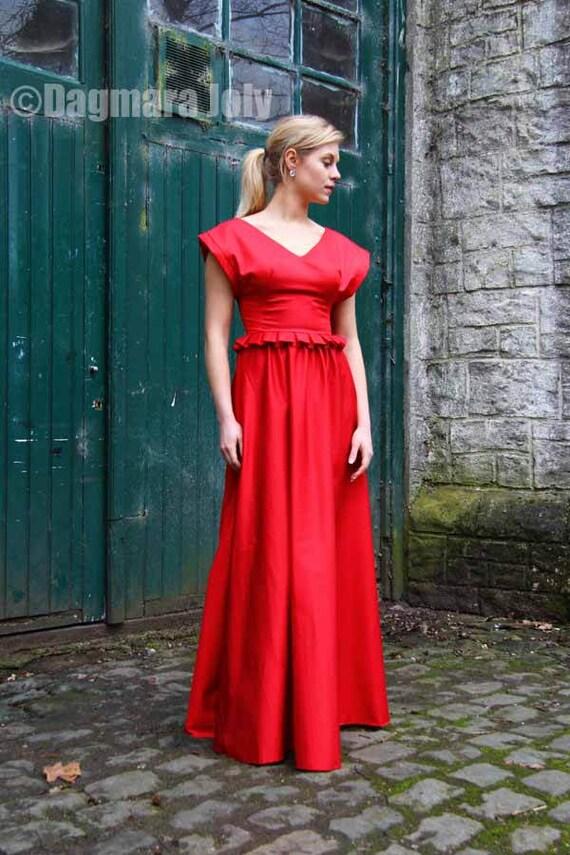 dress maxi neck dress length evening floor dress red V dress maxi Long red Red dress gown bridesmaid dress dress prom peplum SALES Cw0xa14qn
