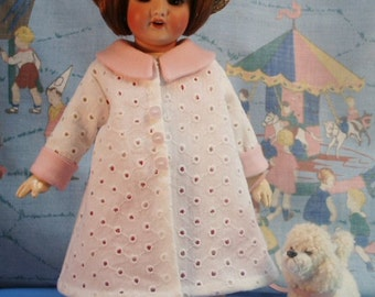 Bleuette pattern for doll clothing - RECEPTION dress from 1931,  the FAVORI coat from 1934 - and Underclothing - Gautier Languereau