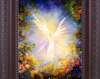 Angel Art Wall decor, Home Decor, Guardian Angel, Angel Painting,