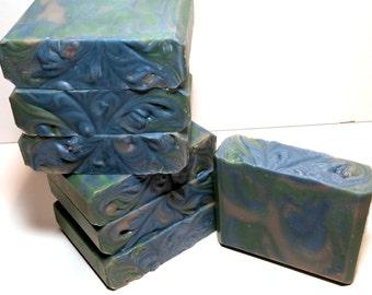 Alpine Frost Soap, Vegan Soap, Natural Soap, Luxury Soap, Babassu Oil, Shea Butter, Bar Soap, Handmade Soap, Artisan Soap, Pine Scent
