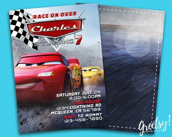 Disney Cars Invitation Disney Cars Birthday Party Invite