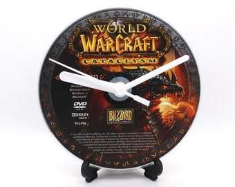 World of Warcraft Cataclysm PC Upcycled DVD Disc Clock Video Game Gift Idea
