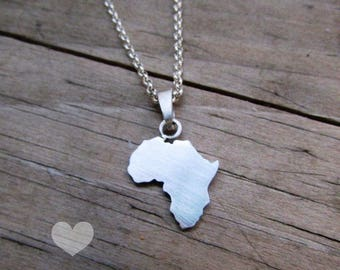 Africa necklace with elephant cutout for Stephanie