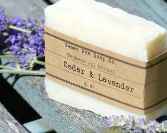 Cedar and Lavender Soap, Cedar, Lavender, Essential Oil, Skincare