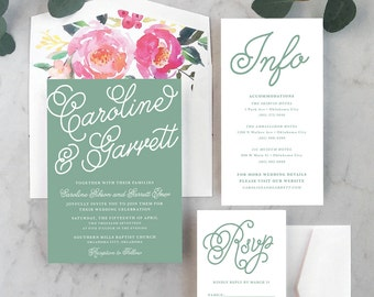 Colorful + Cheerful Wedding Invitations