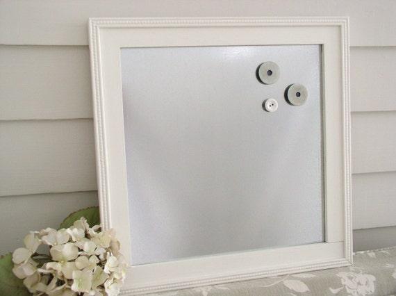 Industrial Chic Magnet Board Wood Framed Magnetic Memo