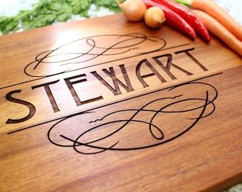 Personalized Cutting Board - Engraved Cutting Board, Custom Cutting Board, Wedding Gift, Housewarming Gift, Anniversary Gift W-012 GB