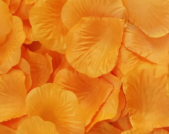 500pcs Orange Petals Orange Rose Petals Orange Wedding Petals Orange Silk Rose Petals Orange Centerpieces Orange Artifical Orange Petals