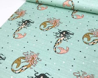 Mermaid Organic Jersey Fabric by Wcollection