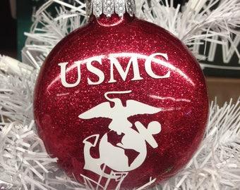 Holiday Christmas Tree Ornament Military Branch US Marine