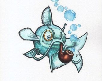 Sofishtication - Art Print - Watercolor Painting