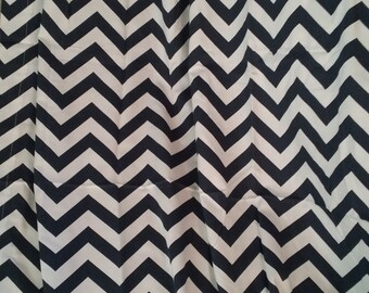 Bedroom curtains, window curtains, Navy blue chevron, chevron curtains, blue curtains, blue and white, chevron, window curtain panel