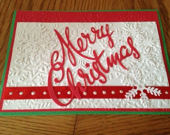 Christmas handmade greeting Card