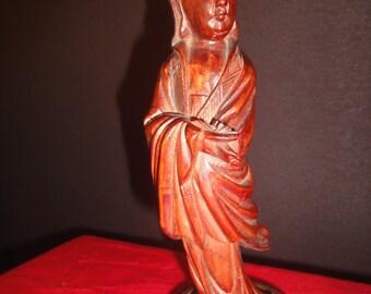 asian wooden figure
