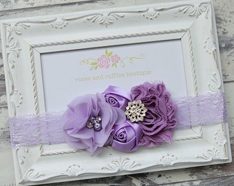 PICK COLOR, Purple Baby Headband, Baby Girl Headband, Newborn Headband, Flower Headband, Baby Photo Prop, Infant Headband, Toddler Headband