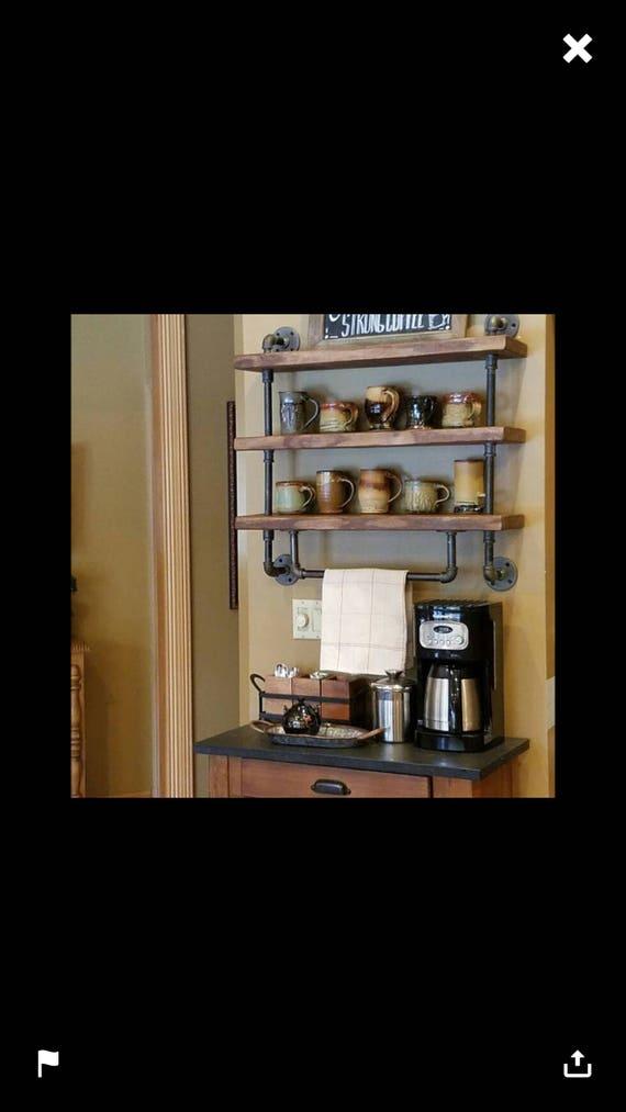 Industrial Pipe Shelf Bathroom Shelves Kitchen Shelves