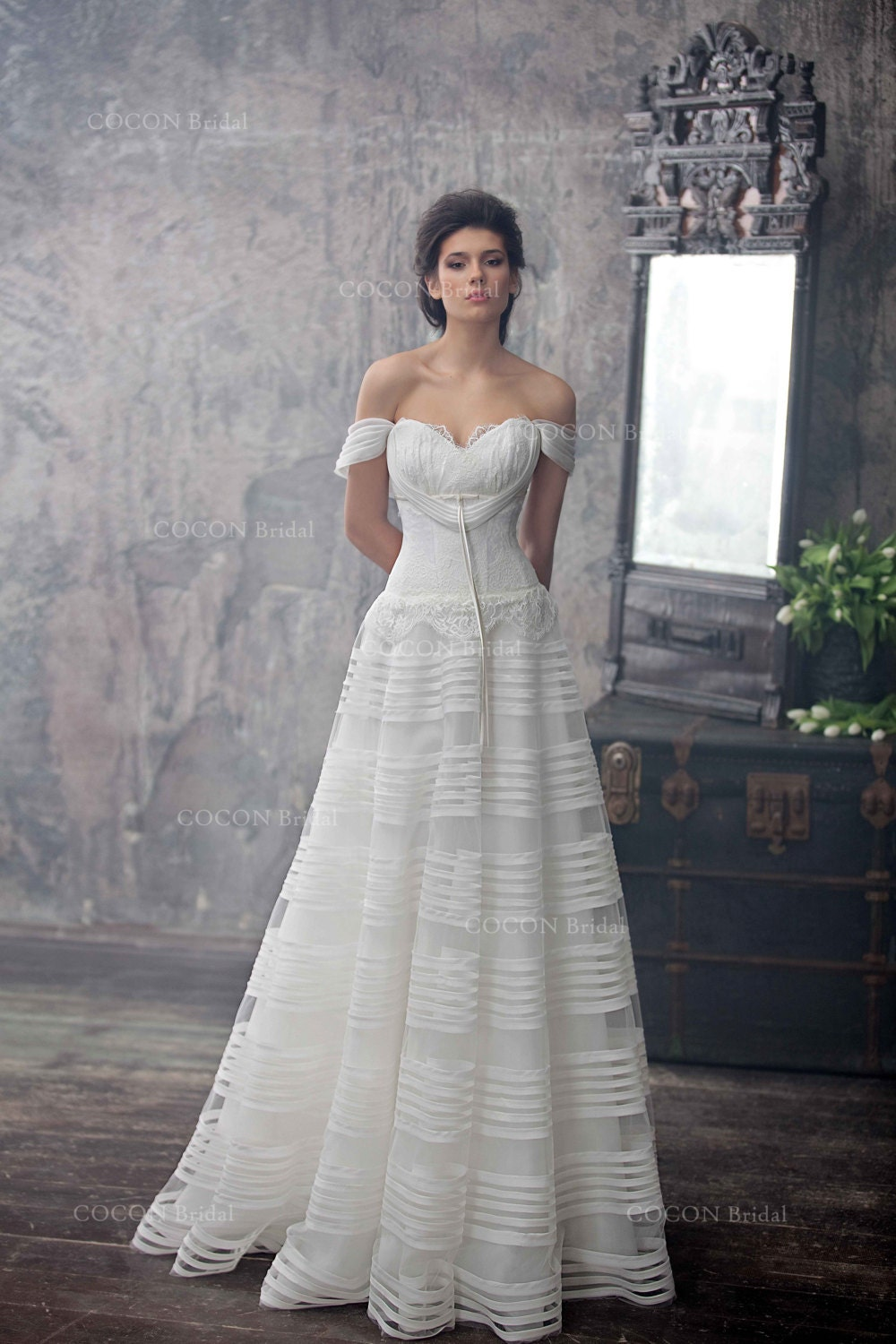 Haute Couture Wedding Dress Romantic Wedding Gown From Silk