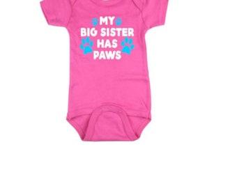 My Big Sister Barks Pet Baby Clothes Pet Baby Shirt Dog