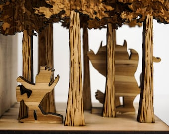 Bookends, Forest, Book Ends
