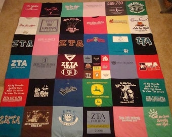 T-Shirt Memory Blanket Custom Made to Order Unlimited Items