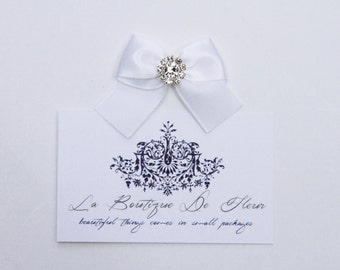 Handmade Satin Ribbon Bows with Diamante