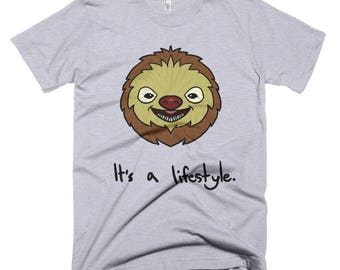Funny Sloth It's A Lifestyle Men's Short Sleeve Shirt