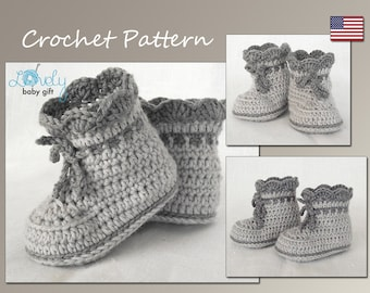 Crochet Pattern, Baby Boots Pattern Crochet, Shoes Crochet Pattern, Baby Booties, CP-203
