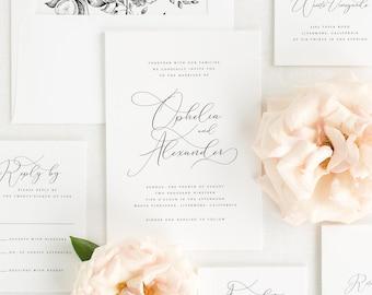 Ophelia Wedding Invitation - Deposit