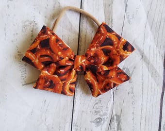 Baby Girl, Toddler, Fabric Pretzel, Food Bow