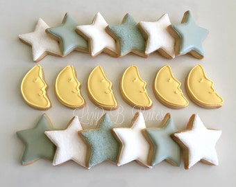 36 Mini Moons and Stars Cookies!