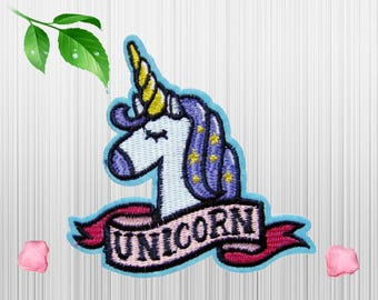 Cute Unicorn Patches Applique Embroidered Iron on Patch