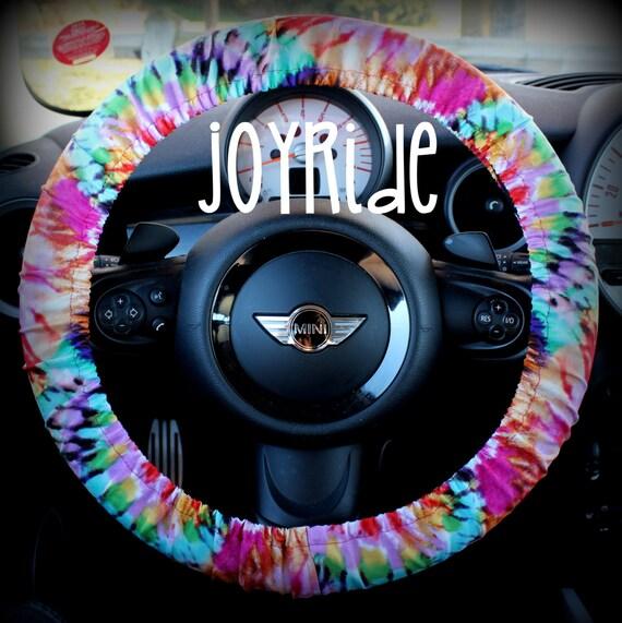 Steering Wheel Cover Tye Dye Rainbow Cute Car Accessories