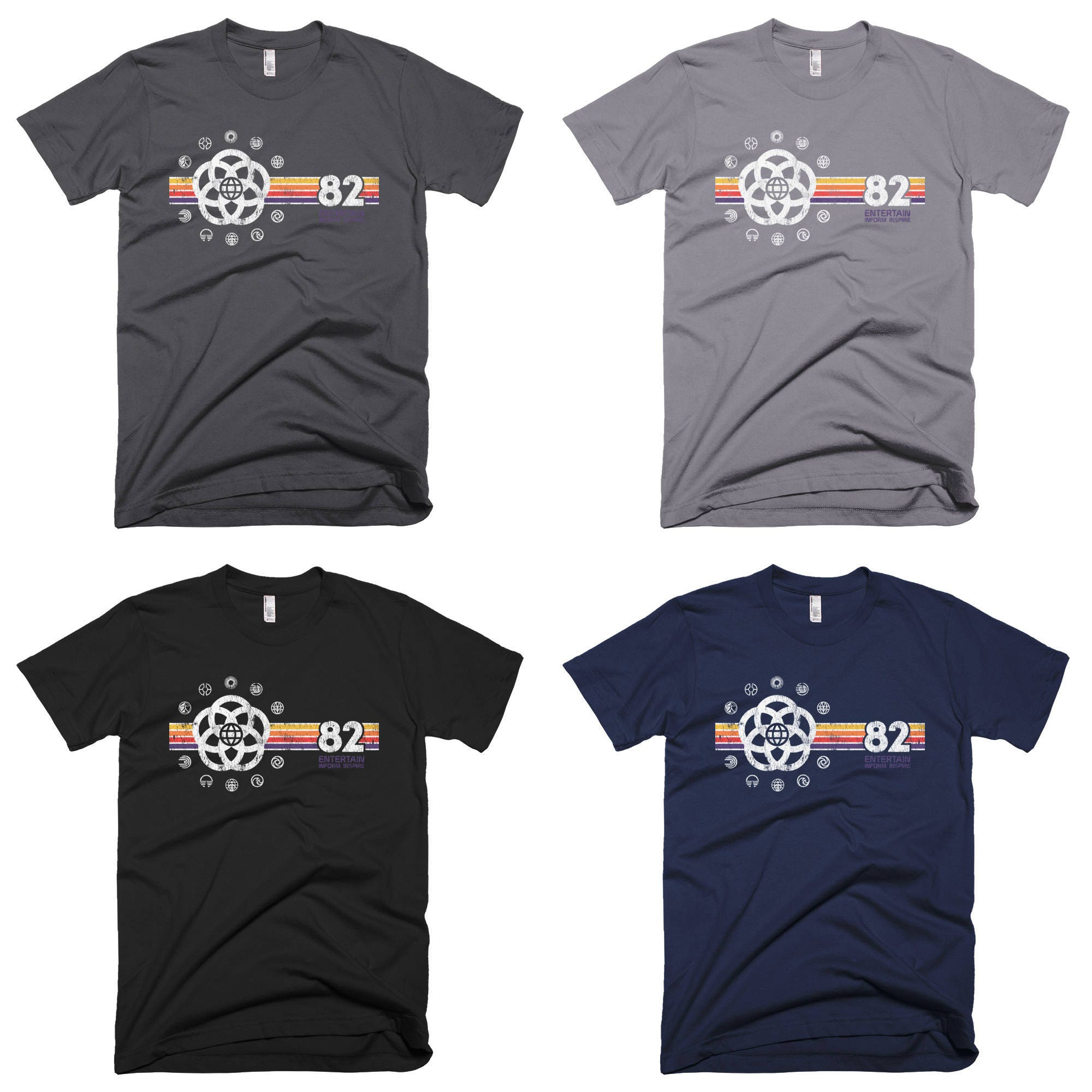 EPCOT Shirt EPCOT Center T-Shirt with Pavilion Logos and a