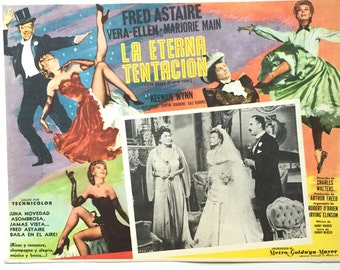 Vintage MGM Musical Poster / The Belle of New York Mexican Lobby Card / Fred Astaire Vintage Movie Memorabilia / Musical Memorabilia